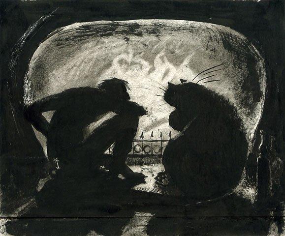 мастер и маргарита картинки бегемота каждой картине